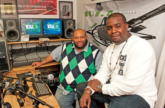 101.1 The Fam co-founders Daryl Burton and A.D. Roney play urban music often ignored by mainstream radio on their Internet station located downtown.