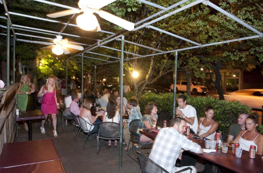 11:23 p.m. - The sweeping patio, with its outdoor bar, fills up at Baja Bean Co. in the Fan.