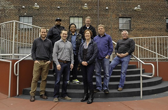 A few of Richmond dining's risk takers include, in the back row, Lamont and Alicia Hawkins of Inner City Blues, Ryan Croxton and Travis Croxton of Rappahannock and Buz Grossberg of Buz and Ned's Real Barbecue and, in the front row, Hardywood Park Craft Brewery's Patrick Murtaugh and Eric McKay, and Kendra Feather of the Roosevelt.