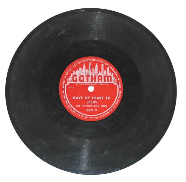 A Harmonizing Four record on the Gotham label.
