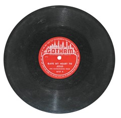 A Harmonizing Four record on the Gotham label.