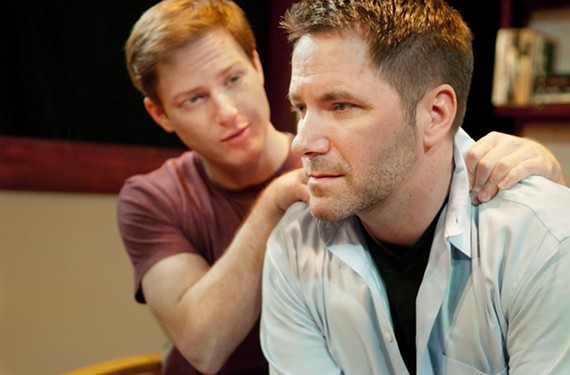 A long strained trip: Denis Riva and Chris O'Neill star in the latest production from the Richmond Triangle Players. - JOHN MACLELLAN