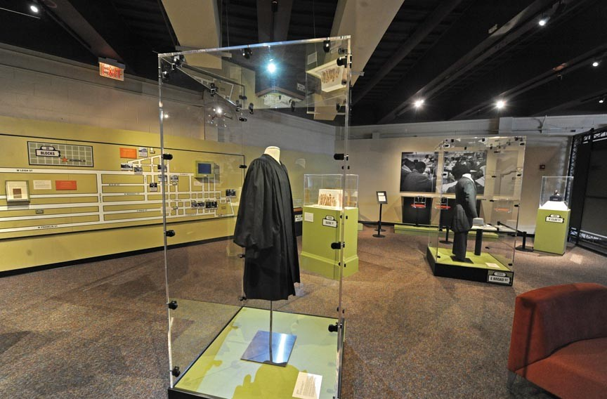 A new Science Museum exhibit on Richmond and race includes a local Woolworth's lunch counter, the setting for a historic civil rights protest, and the judicial robes of the late U.S. judge Robert Merhige Jr., who integrated city schools. - SCOTT ELMQUIST
