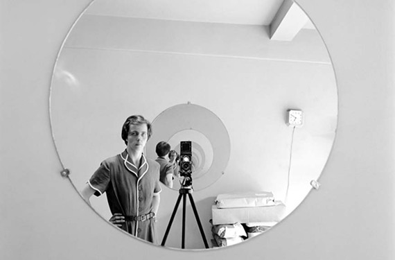 A rare selfie by photographer Vivian Maier and another image rescued from obscurity when John Maloof began buying her prints from an auction. Maier is the subject of an Oscar-nominated documentary playing at the Byrd Theatre on Sunday.