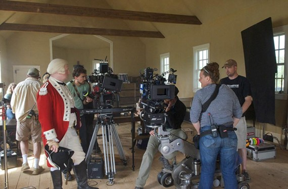"A redcoat prepares for a scene in AMC's ""Turn,"" which has filmed in the Richmond area for two seasons."