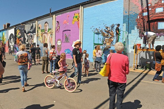 A scene from the Richmond Street Art Festival in September at the GRTC's old bus depot on the corner of Cary and Robinson streets. - SCOTT ELMQUIST