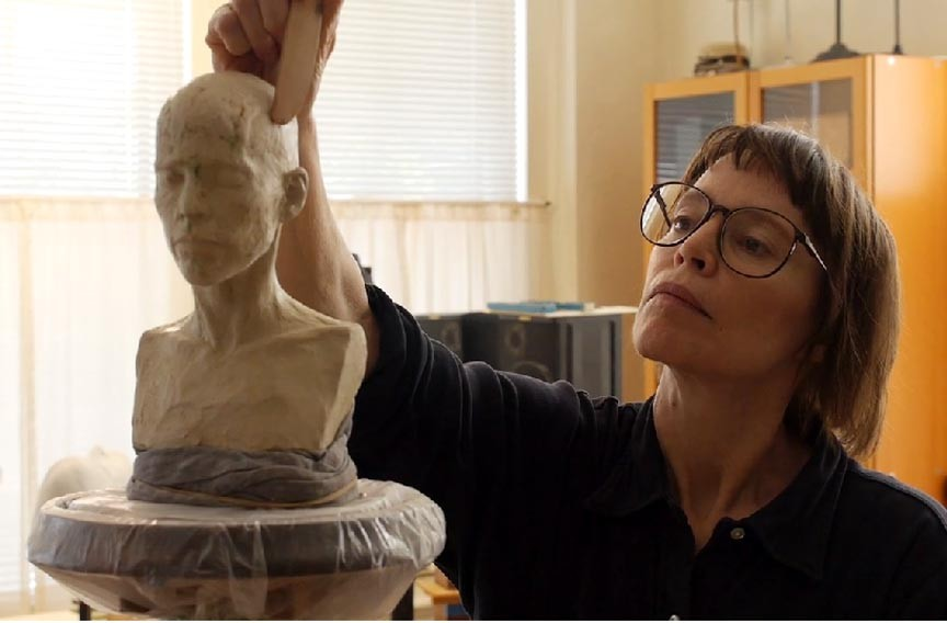 A still from an upcoming Floating Stones Productions documentary on the artist and VCU professor. - FLOATING STONE PRODUCTIONS