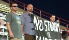 Activists Take Ballpark Protest to the Ballpark