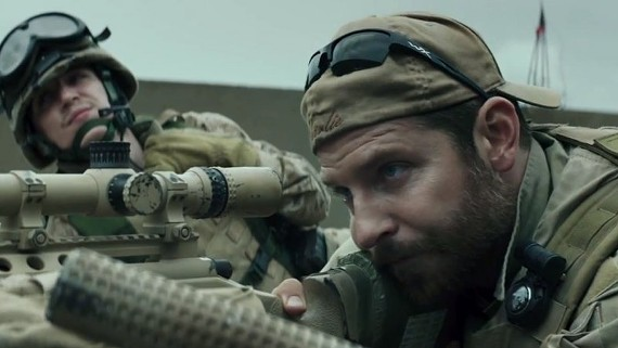 "Actor Bradley Cooper was nominated this week for an Oscar for his portrayal of sniper Chris Kyle in Clint Eastwood's ""American Sniper."""