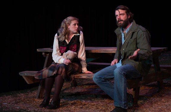 """Actors Grey Garrett and Charley Raintree play Lottie and Junior in """"This World We Know,"""" which won Firehouse's 2013 New American Play Festival."""