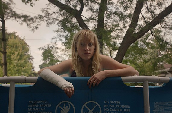 Actress Maika Monroe stars as Jay Height, a teen whose one-night stand comes back to haunt her, in one of the most visually distinctive horror films of the year from director David Robert Mitchell.