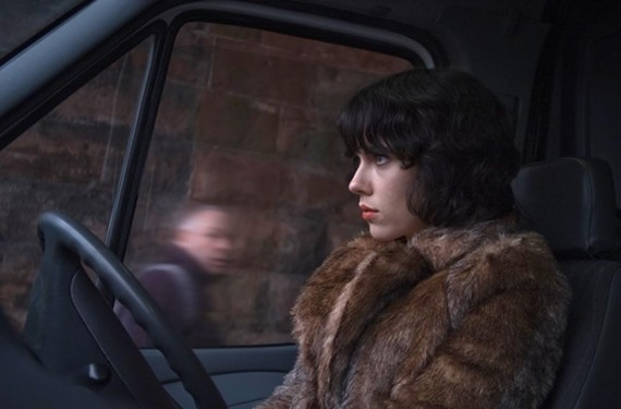 "Actress Scarlett Johansson gives a seductive performance as a femme fatale in the new sci-fi art film ""Under the Skin"" from English director Jonathan Glazer (""Sexy Beast"")."