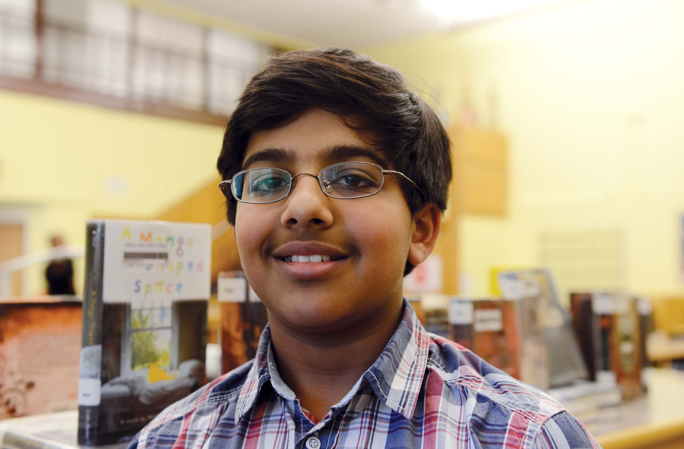 Aditya Kannoth, a five-time spelling bee champ from Henrico County, says the key to great spelling is finding a word's root. - SCOTT ELMQUIST