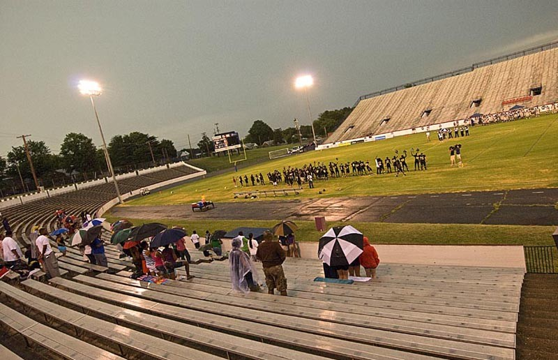 After 17 years, the semipro Virginia Hornets are still in search of a fan base. On July 23, only a few brave the rain at City Stadium. - ASH DANIEL