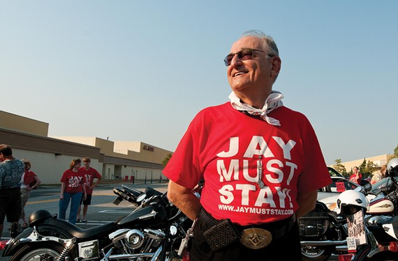 After his ouster from the Virginia Holocaust Museum, Jay Ipson found supporters from all walks of life — including motorcycle enthusiasts, who held a rally in his honor in late June. - SCOTT ELMQUIST