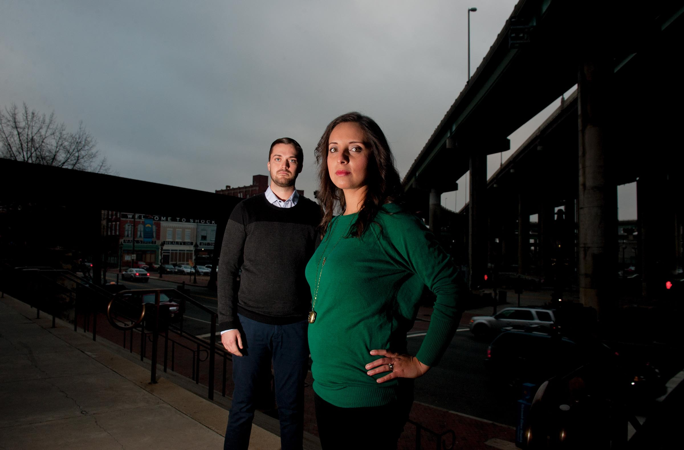 """After learning about human trafficking, Joshua Bailey and his wife, Andrea Valencia-Bailey, started seeing signs of it everywhere — even """"four blocks from our apartment,"""" Joshua says. Their nonprofit, the Gray Haven Project, helps labor and sex trafficking victims, and is the only one of its kind in Richmond. - SCOTT ELMQUIST"""
