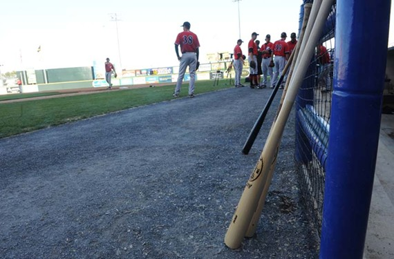 After signing autographs, the Squirrels practice for the fans at The Diamond last week.