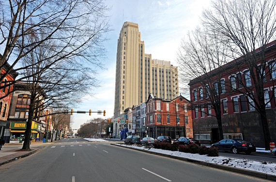 After sitting dormant for years, the majestic Central National Bank building on East Broad Street is being converted into apartments. - SCOTT ELMQUIST
