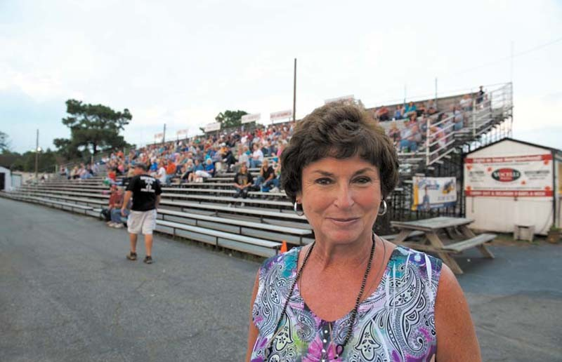 After suffering a stroke in January, Sue Clements, owner of Southside Speedway and John Wilkinson's daughter, had to take a brief hiatus. - SCOTT ELMQUIST