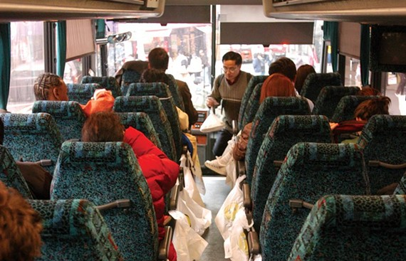 After the fatal bus crash in Caroline County on May 31, some are questioning the safety of so-called Chinatown buses, which offer cheap fares and no-frills service. - SCOTT ELMQUIST/FILE 2004