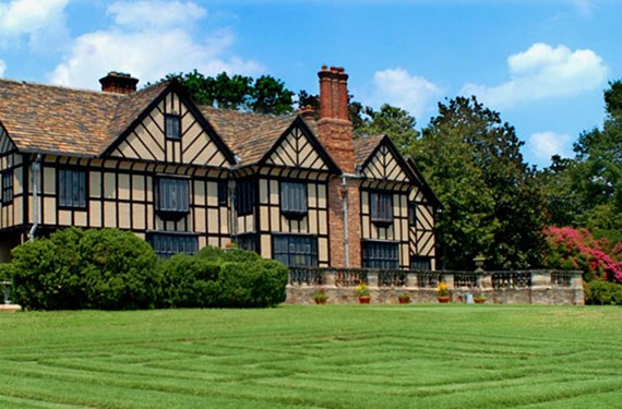 Agecroft Hall, the Tudor manor house and estate in Windsor Farms, was built in England in the late 15th century, bought at auction in 1925, disassembled and shipped across the Atlantic.