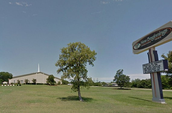 Aguilar served for a year as the youth pastor and outreach minister of New Beginnings International Church in Fort Worth. - GOOGLE MAPS