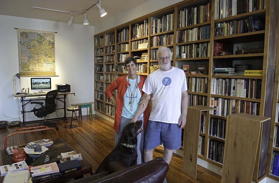 Aimee and Alain Joyaux at their three-story home and work space downtown. - SCOTT ELMQUIST