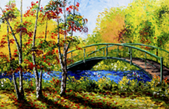 "Alexandre Renoir: ""Pond Bridge"" 2012"