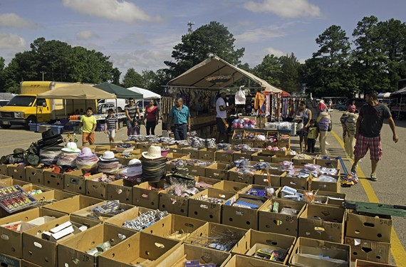 All kinds of wares await shoppers visiting the Bellwood Flea Market, at Jefferson Davis Highway and Willis Road.
