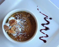 Amaretto pumpkin crème brûlée is one of a series of knock-out desserts at Hermitage Grill in Lakeside.