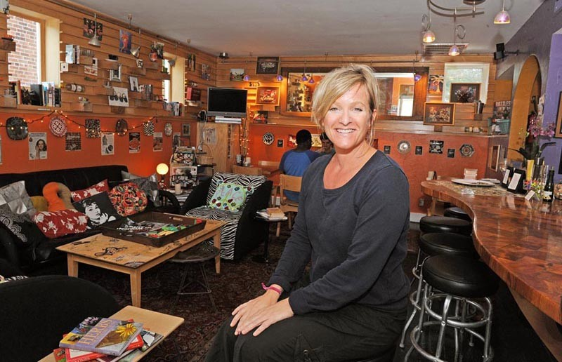 Amy Roman hopes to convene mothers and kids weekday afternoons at Pie, which is refocusing its image to become 214. - SCOTT ELMQUIST