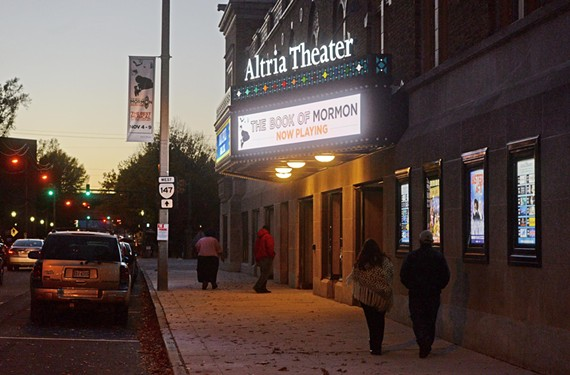 An additional screaming bright, digital marquee has been added to the Main Street side of Altria Theater. - SCOTT ELMQUIST