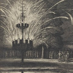 "An embarrassment of riches: Wenceslaus Hollar's ""Fireworks at Hemissem"" is one of the 10,000 rare works recently donated to the Virginia Museum of Fine Arts by collector Frank Raysor.   Courtesy of the VMFA"