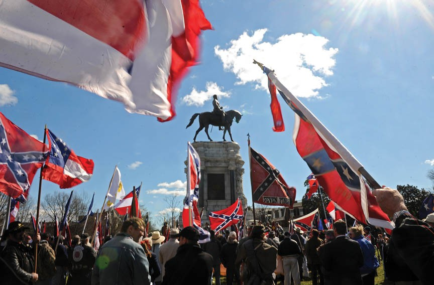 An event organized by the Sons of Confederate Veterans in February commemorates the 150th anniversary of Jefferson Davis' inauguration as president of the Confederacy. - SCOTT ELMQUIST