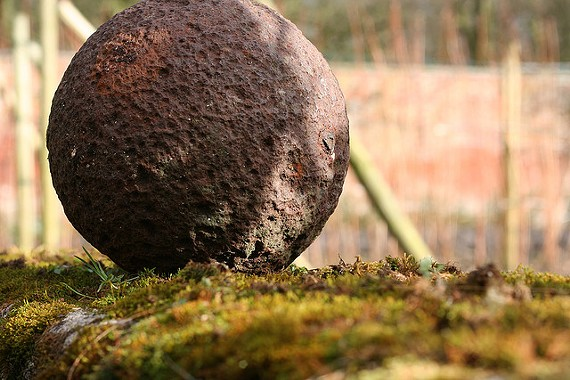An old cannonball.