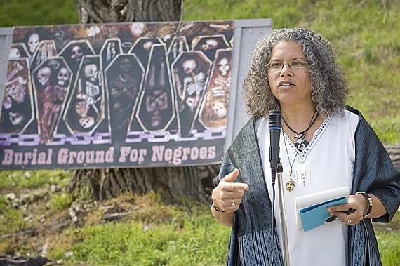 Ana Edwards of the Sacred Ground Historical Reclamation Project says officials could have made a better effort to honor Emancipation Day. - ASH DANIEL