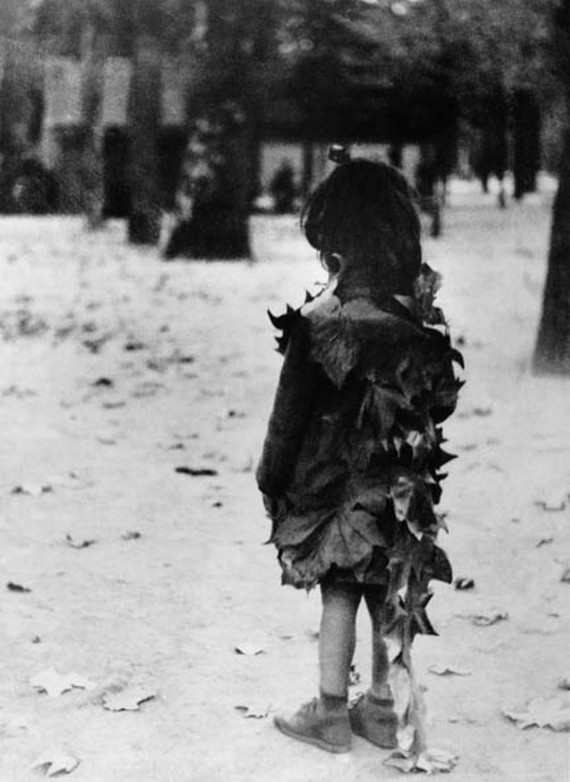"""Édouard Boubat's """"The Little Girl with Dead Leaves"""" is one of the evocative images in """"Visions of France."""""""