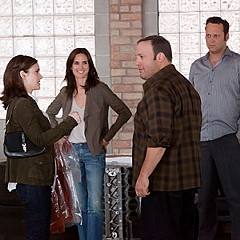 """Honey, I shrunk the jokes!"" Winona Ryder, Jennifer Connelly, Kevin James and Vince Vaughn are desperately looking for a laugh track in the new — and highly formulaic — ""The Dilemma."""