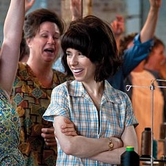 """""""The longer the picket line, the shorter the strike."""" Sally Hawkins is Rita O'Grady in """"Made in Dagenham,"""" a new British film that details the fight for equal pay for women. Photo by Susie Allnut"""
