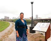 Anedra Bourne, the city's new tourism coordinator, hopes to bring more visitors to the Richmond Slave Trail with tours and maybe a mobile telephone app.