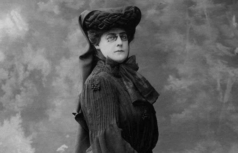 Arabella Worsham Huntington in 1905, five years after the death of Collis B. Huntington. - THE HUNTINGTON LIBRARY, ART COLLECTIONS, AND BOTANICAL GARDENS