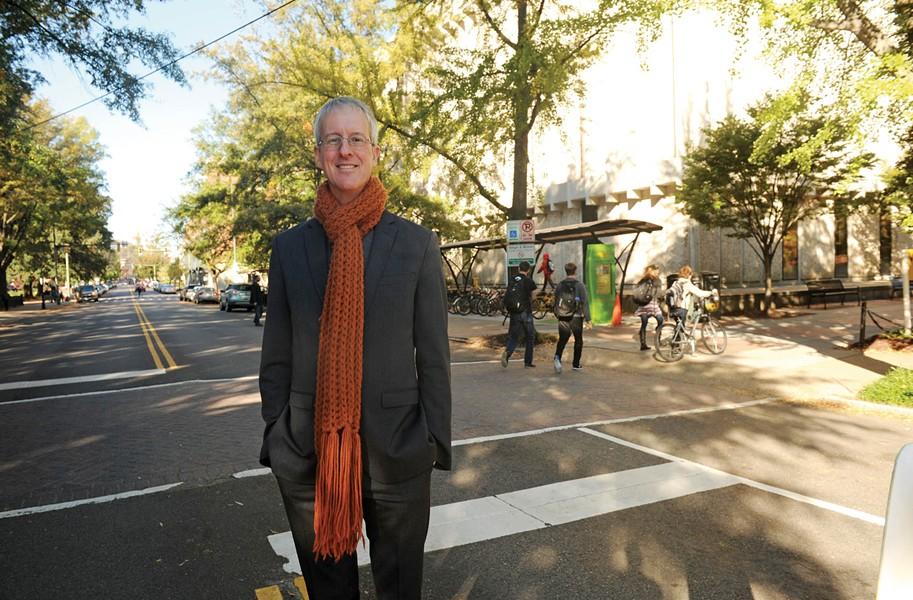 Architect and aurthor Jeff Speck on Floyd Avenue Oct. 24. - SCOTT ELMQUIST