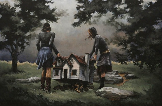 """Artist Mary Chiaramonte's Bon Air home has been heavily damaged by storms twice, but her paintings like """"Miles Away"""" (pictured) provide artistic shelter."""