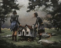 "Artist Mary Chiaramonte's Bon Air home has been heavily damaged by storms twice, but her paintings like ""Miles Away"" (pictured) provide artistic shelter."