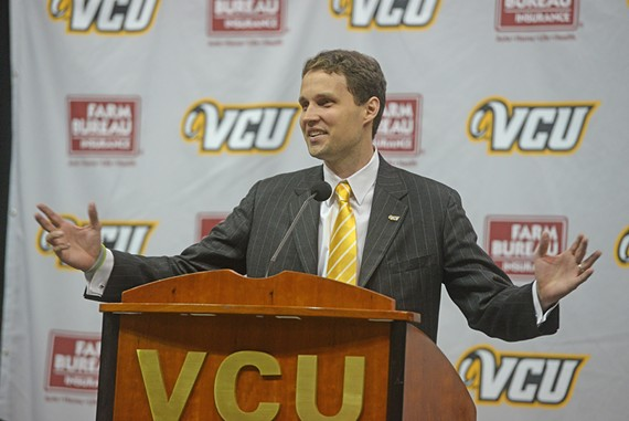 "As head coach at the University of Tennessee at Chattanooga, Will Wade implemented a style of play he called ""chaos."" In his introductory press conference today, he said he'll bring that style reminiscent of ""havoc"" back to VCU -- with his own flair. - SCOTT ELMQUIST"