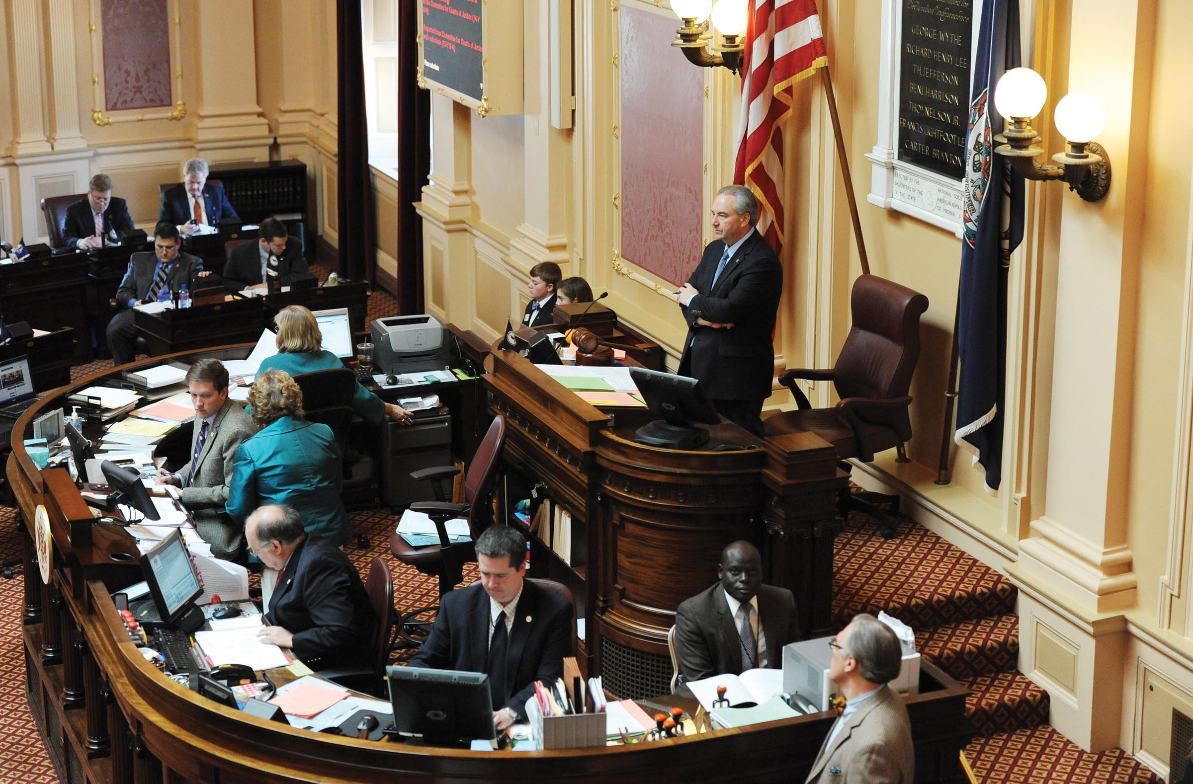 As lieutenant governor, Bill Bolling presides over the state Senate and casts tie-breaking votes in the body, which is split 20-20 between Republicans and Democrats. - SCOTT ELMQUIST