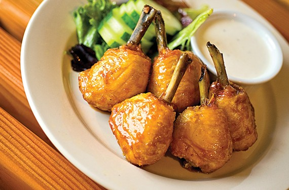 Asian drumsticks are sweet and meaty at C & M Galley Kitchen in Stratford Hills. - ASH DANIEL