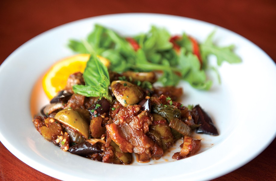 At Deco in the Museum District, the caponata Siciliana for $7 combines eggplant with capers, olives and balsamic vinegar to memorable effect. - SCOTT ELMQUIST
