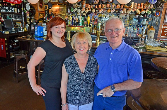 At Rosie Connolly's, Helen Emerson works alongside her parents, Gladys and Tommy Goulding.