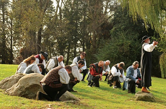 At the Nov. 4 Virginia Thanksgiving Festival, re-enactors perform a pageant depicting a 1619 prayer of thanksgiving that forms the basis for Virginia's claim as the birthplace of the holiday. - SCOTT ELMQUIST
